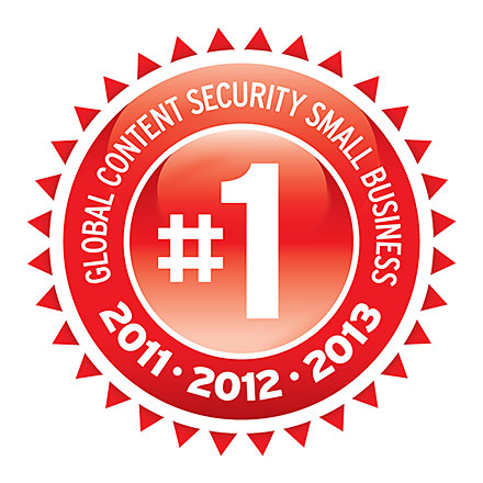 #1 Global Content Security Small Business - 2011, 2012, 2013